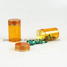 Amber pet garrafa de injeção de óleo de peixe australiano embalagem (PPC-PETM-007)