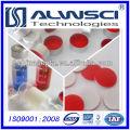 Silver 11mm Open Top Aluminum Crimp Cap & Pre-slit Septa for HPLC