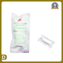 Suprimentos médicos da atadura estéril da gaze (7.5 * 450cm)