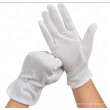 Weiße Baumwollhandschuhe für den Fahrer