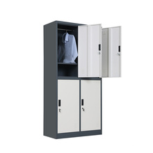 Free Shipping Metal Gym Wardrobe / 4 Door Steel Wardrobe