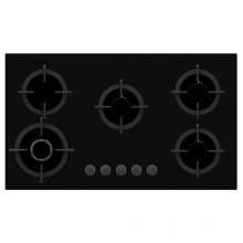 Sabaf Five Burner Tempered Glass Gas Stove