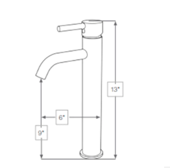 Single Handle Faucet Hot and Cold water
