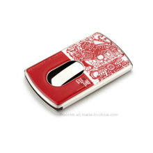 Beautiful Metal Business Card Holder with Enamel Logo