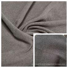 Escova dupla lateral DTY em tecido polar tingido de lã