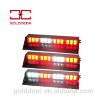 Plataforma de montagem interior LED para-brisa acende luz estroboscópica de viseira