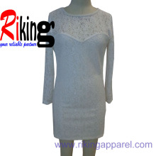 Lace Dress in Solid Color