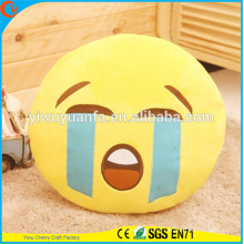 Hot Selling High Quality Novelty Design Decorative Emotion Plush Emoji Pillow