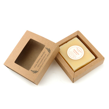 Luxo Kraft Soap Paper Gift Box Atacado