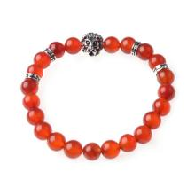 Natural Stone Bracelets Agate Beads with Lion