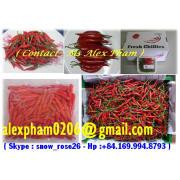 Fresh Chilli, Frozen Chilli, Red Small Chilli, Red Pepper, Chilli Leaf, Chilli