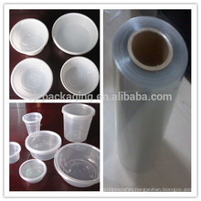 Eco-friendly PVC lamination PE film for disposable lunch box