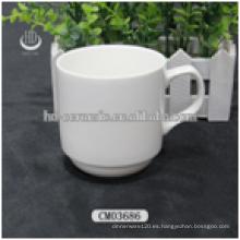 Tazas de café baratas de cerámica, taza de cerámica blanca, taza de cerámica en blanco al por mayor