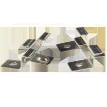WPC deck usado inoxidável decking clipes