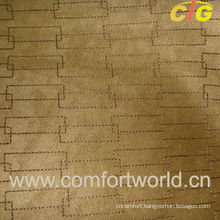 Embroidery Warp Knitting Faux Suede Fabric