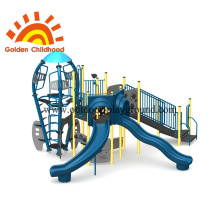 Blue Rocket Structure With Slide Equipment