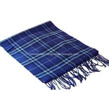 Barreled blended cashmere & wool scarf