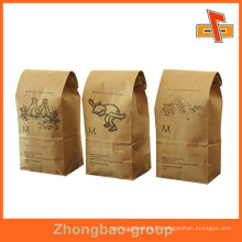 Factory Made Guanghzhou Reusable Paper Custom Stand Up Paper Bags Pouch With Tin Tip