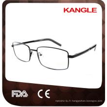 La ligne la plus économique de base économique homme Les cadres optiques en acier inoxydable / lunettes en métal