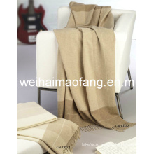100% чистый кашемир бахромой броска одеяло
