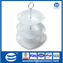 China new products white 3 tier cake stand