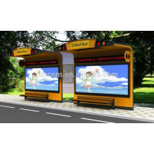 THC-89 metal bus shelter with electrostatic powder paint