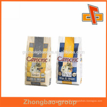 Good barier paper material Side gusset pet food bag with EXW price