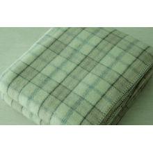 100% Australian Wool Throw Blanket Modern Check Design