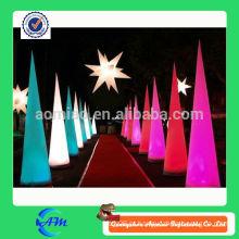 Cone inflável estrela inflável cone de iluminação para publicidade