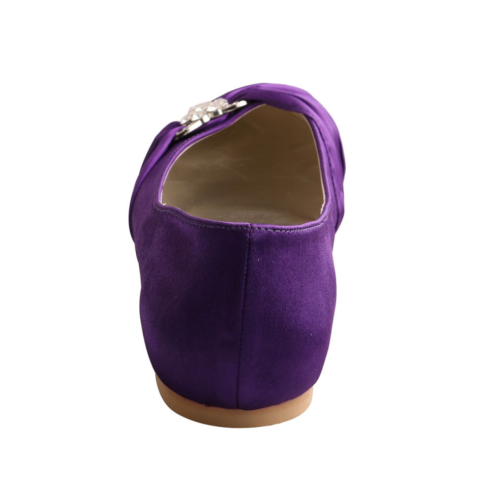 Purple Bridal Shoes Flats