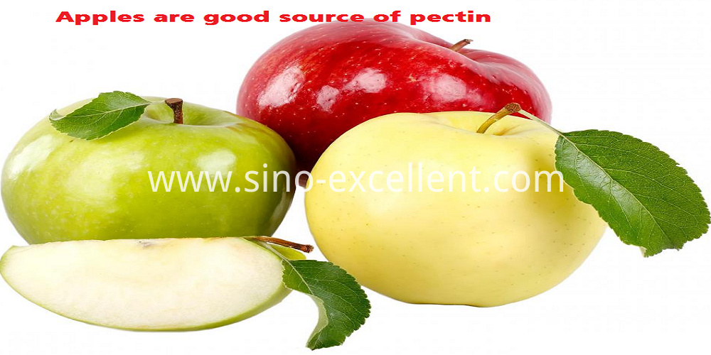 Apples are good source of pectin