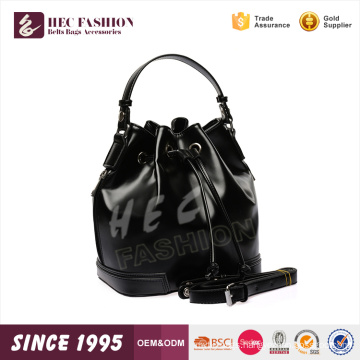 HEC Ladies Fashion Designer Shiny PU Material Drawstring Backpack