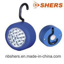 24PCS luz de trabajo redonda de LED con gancho colgante