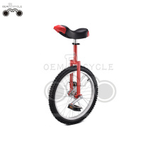 red 24 inch Steel Unicycle Bicycle