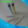 Dental Irrigation Syringe, Plastic Curved Tip Syringes
