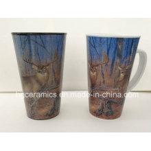 16oz Promotional Mug V Shape Full Decal Printing Mug