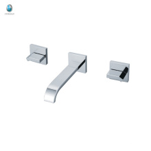 KI-20 special design bathroom with double square handles chrome polished brass single handle tub shower faucet