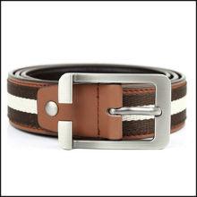 Casual PU Stripe Belt Accessories for Woman