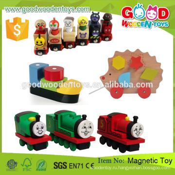 2015 Новая игра Томас Поезд Деревянная обучающая магнитная игрушка для детей