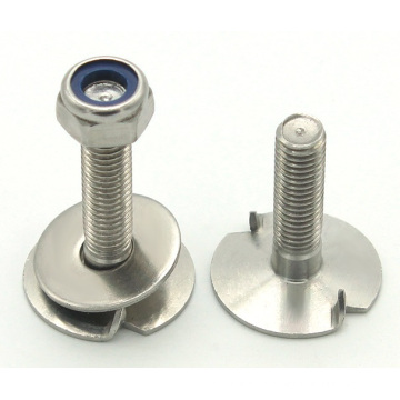 Plain finish stainless steel nut and flat head bolts manufacturing
