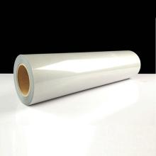 feuille réfléchissante de transfert de chaleur étirable blanc argenté