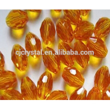 oval crystal beads Faceted Rice glass Beads