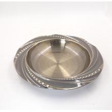 assiettes creuses en acier inoxydable rondes de différentes tailles