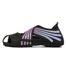 Women Grip Novelty Lycra PU Dance Shoes Custom Print Yoga Socks Boots