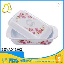 горячая продажа сыра посуда квадратная пластиковая пластина с крышкой