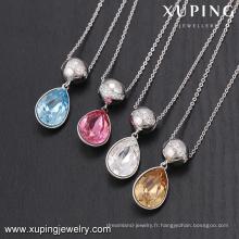 43819-accessoires de bijoux fantaisie pour femme, cristaux de Swarovski, collier de perles taillées dans la pierre