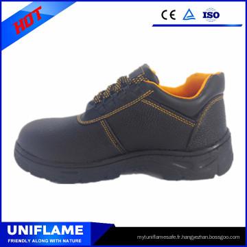 Les meilleures chaussures de sécurité en cuir de vente en gros de semelle extérieure en cuir pour la vente en gros Ufd002