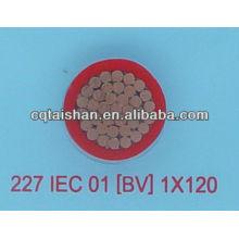 Niederspannungs-Kupfer-Core-PVC-isoliertes PVC-ummanteltes Weichstromkabel