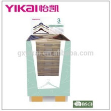 Fashional and promotional colorful wooden clothes hanger