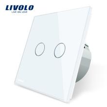 Livolo Interrupteur tactile mural, 1 voie, standard européen, 2 voies VL-C702-11 / 12/13/15